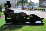 Ladies of Steel Series; Riverflow and Reclining Woman Black / 96 x 48 x 12 and 93 x 38 x 16 / welded steel
