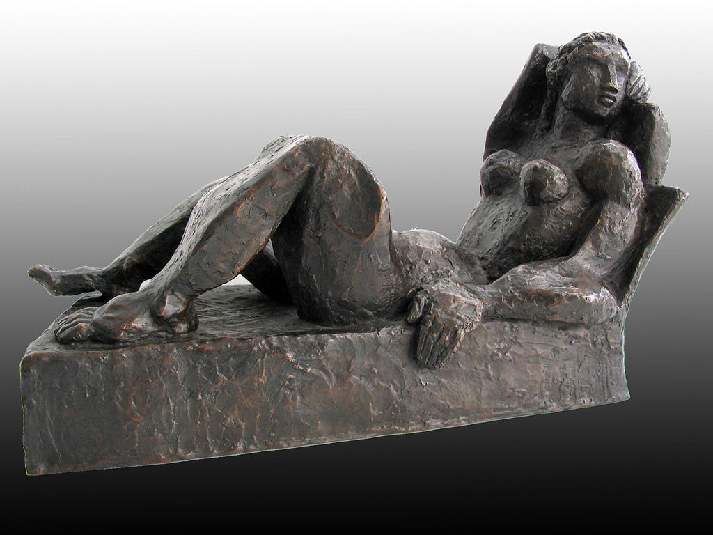 Reclining Woman / 18 x 11 x 10 / bronze Reclining Woman / 18 x 11 x 10 / bronze