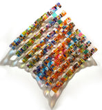 Retro Mesh Series / 30 x 30 / fused and bent glass