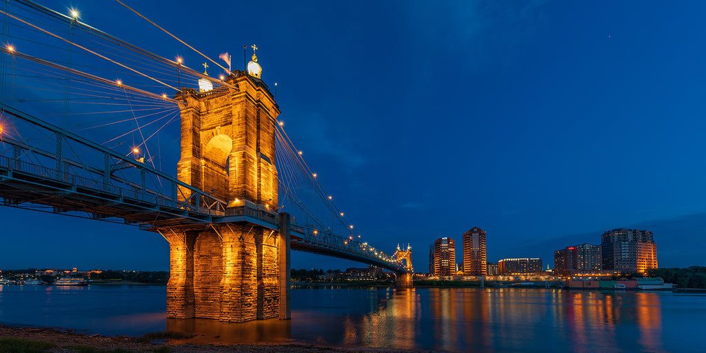 Roebling Suspension Bridge at Twilight No. 1