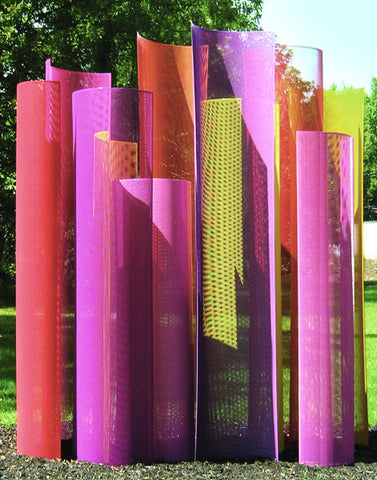 Color Field Sculpture in the Garden - detail