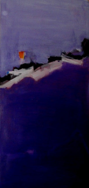The Magic Mountain. Purple abstract painting by Tom Geyer