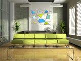 Triangulation / 42 x 32 x 3.5 / art glass on metal grid