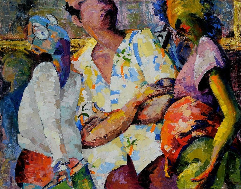 Viewing Delacroix / 47 x 36 / oil on canvas