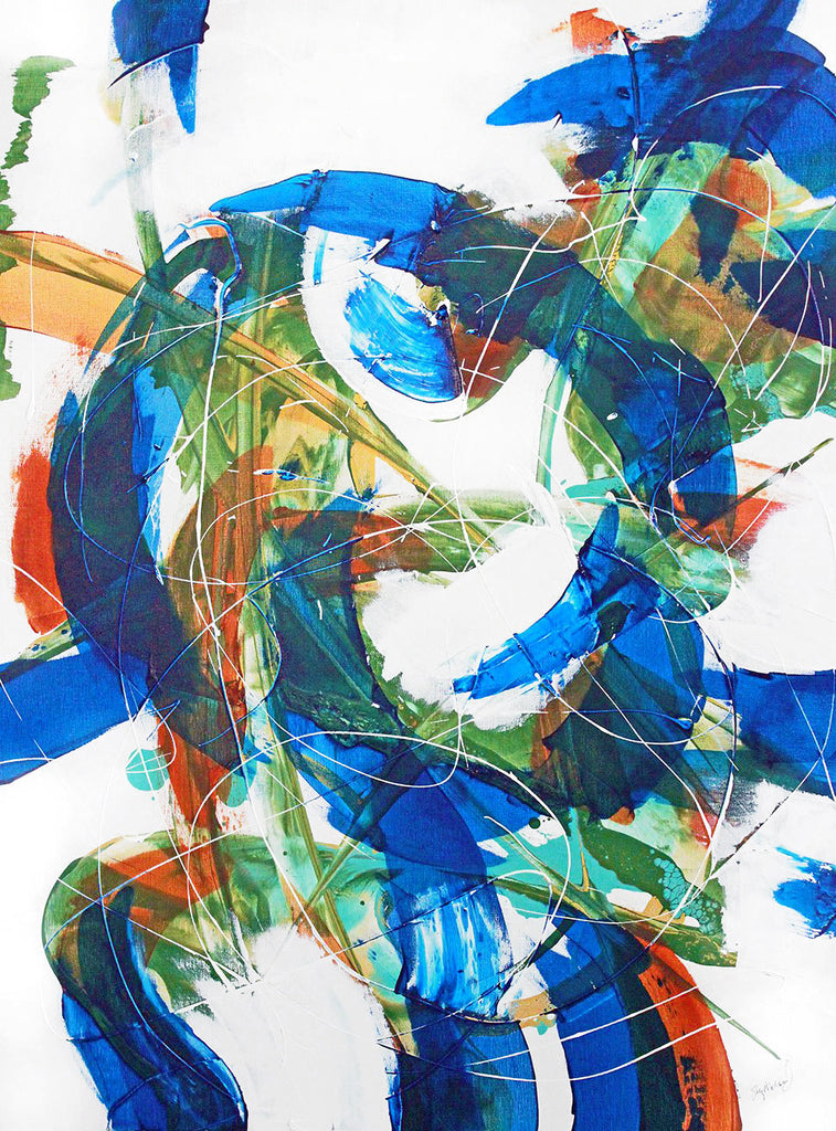 blue abstract artwork available on Blink Art by Stephanie Holznecht