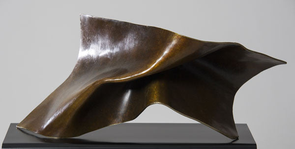 Folded Form 7 / 22 x 11 x 11 / patinated bronze