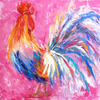 painting of a chicken by karen rolfes