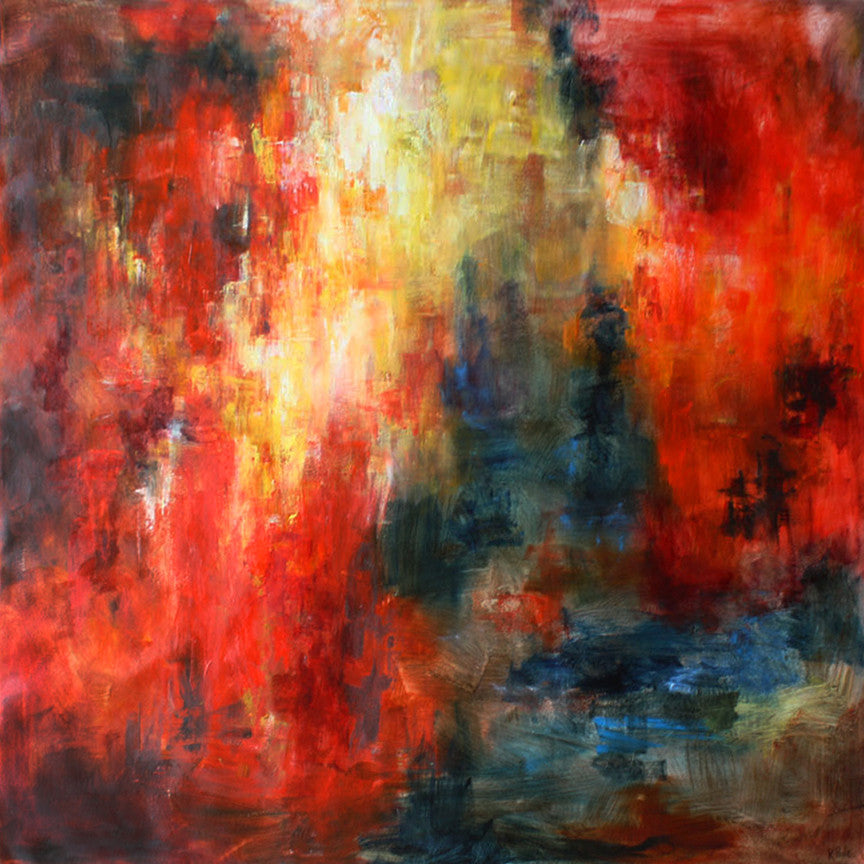 Red Forest / 48 x 48 / painting on canvas