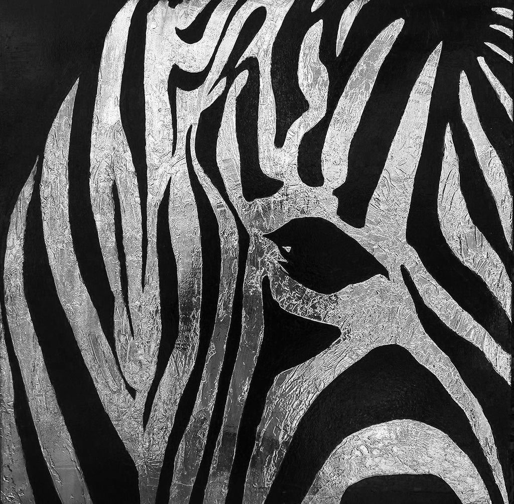 artwork of a zebra by Walter Poole