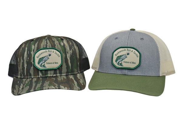 Backwoods Bait and Tackle Green Logo Hat Combo