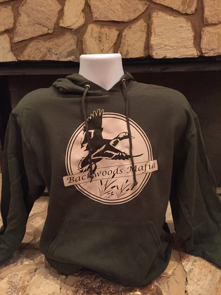 Military Green Drake In Flight Hoodie