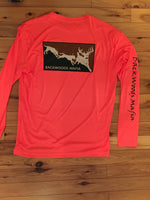 Neon Orange Dog Em Dri Fit Long Sleeve