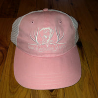 Unstructured Pink/White Snapback