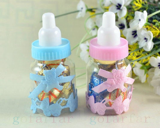 12PCs Baby Candy box Bottle Baby Girls Boys Shower Baptism Christening Birthday Gift Party Favors - CheckaBaby