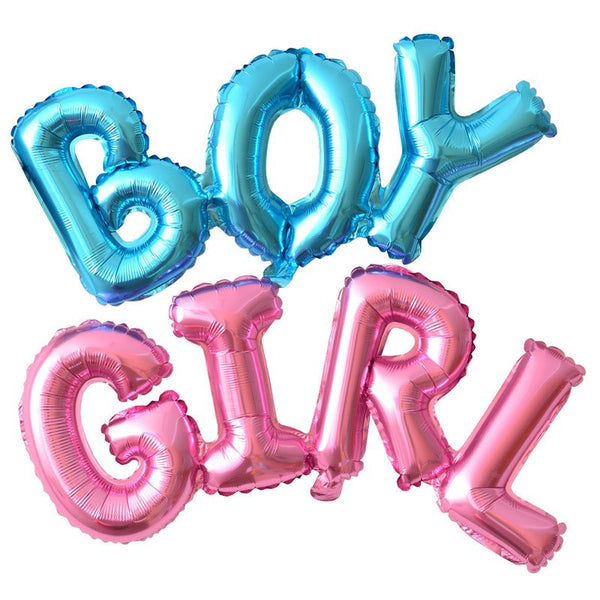 Boy Girl Connection Letter Foil Balloons Children Party Decoration Birthday Party Balloons Inflatable Helium Balloon Baby Shower - CheckaBaby