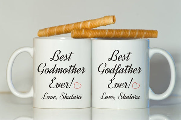 Godparent gift-Godmother gift-Christening gift-Godfather gift-Gift for godparents-Godparents mugs-Best Godmother ever-best Godfa - CheckaBaby