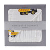 Yellow Digger and White Newcastle Blanket - CheckaBaby