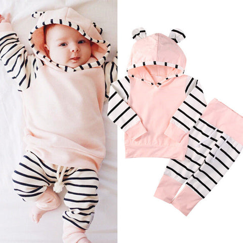 Newborn baby boys clothing set hoodies + pants warm clothes sets - CheckaBaby