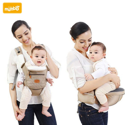 Mambobaby Ergonomic 5 in 1 Baby Carrier Backpack Breathable Cotton Sling For Baby Wrap Rider Canvas Front Backpack - CheckaBaby