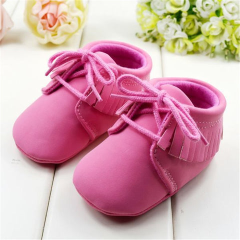 Moccasins Soft Moccs Shoes Bebe Fringe Soft Soled Non-slip Footwear Crib Shoes  PU Suede Leather for Newborn Baby Boy or Girl - CheckaBaby