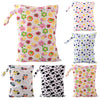 Waterproof Baby Diaper Bags Reusable Washable Zipper Baby Cloth Diaper Wet Dry Bag Swimer Tote for Baby Nappy Storage - CheckaBaby