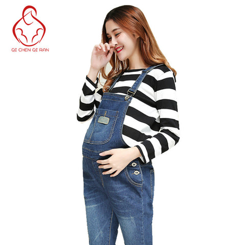Femme Enceinte  Maternity Jeans - Coverall - CheckaBaby