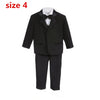 Baby Boys Suits 5 Pieces Formal Tuxedo Suit  - For Boy Christening, Wedding and other Formal  Party Gatherings - CheckaBaby