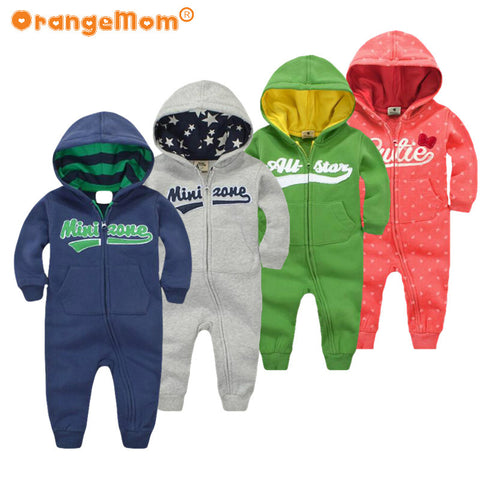 Baby rompers Newborn Cotton tracksuit Clothing Baby Long Sleeve hoodies Infant Boys - CheckaBaby