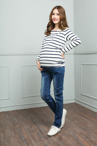 Hot Personality Hole Maternity Jeans Large Size  Loose Trousers - CheckaBaby
