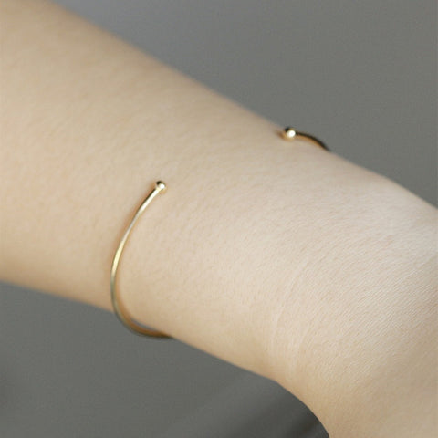 SL187 Minimalist Bangles Bracelets For Women Fashion Jewelry Open - CheckaBaby