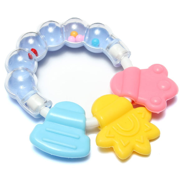 Lovely Baby Bell Toy  Cute Teeth Training,  Molar Safety Teether For Kids, Chewing Practicing - CheckaBaby