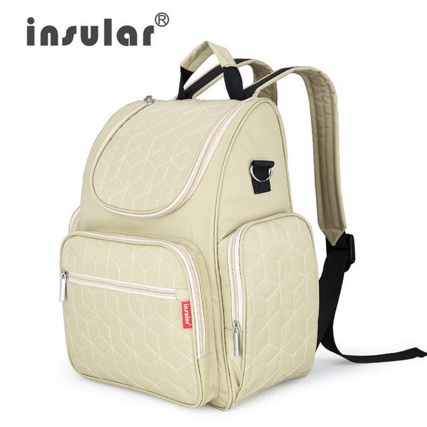 Insular Elegant Baby Diaper Backpacks Nappy Bags Multifunctional Changing Bags For Mommy Shipping Free - CheckaBaby
