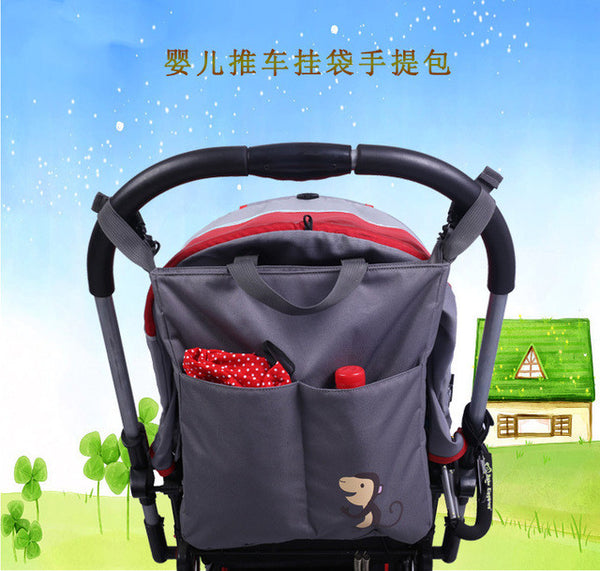 Portable Baby Diaper Bag large baby bag Organizer Mother Maternity bags baby care nappy changing stroller bag for wheelchairs - CheckaBaby
