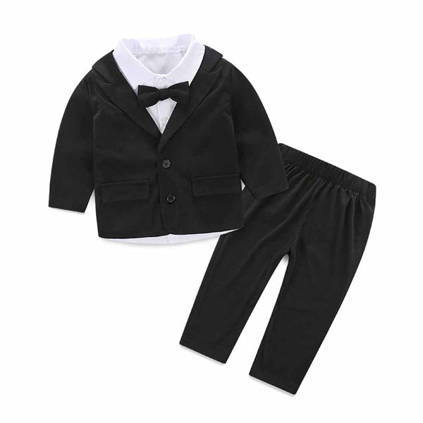 Baby Boy Gentleman Suit +Tie Shirt + Trousers for Baby Boy Christening - CheckaBaby