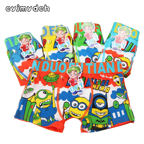 Cyjmydch Cartoon Minions Children's Underwear Boy Underwear Boxer Briefs for Boys - CheckaBaby