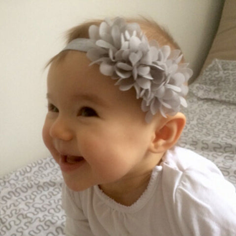 1PC  Flower Headband Children Headwear Pearl Infant Toddler Girls Headbands Kids Hair Bands Accessories w-01 - CheckaBaby
