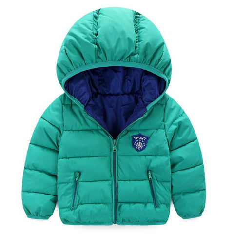 Children Outerwear Fashion Baby Boy Jacket Warm Hooded Kids Clothes - CheckaBaby