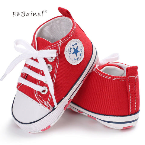 New Canvas Baby Sneaker Sport Shoes For Girls Boys Newborn Shoes Baby Walker Infant Toddler Soft Bottom Anti-slip First Walkers - CheckaBaby