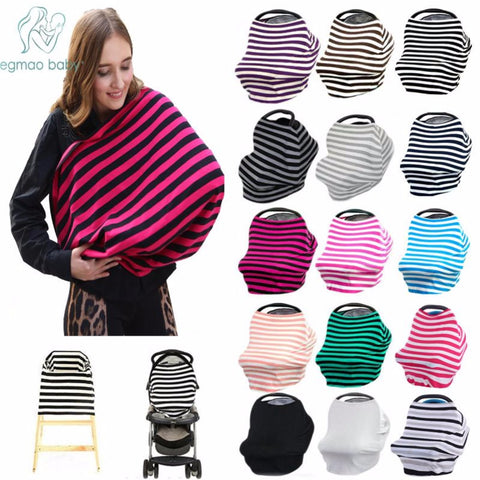 Baby Car Seat Co,ver, Canopy Nursing Cover Multi-Use Stretchy Infinity Scarf, Breastfeeding Shopping Cart  Cover, High Chair Cover - CheckaBaby