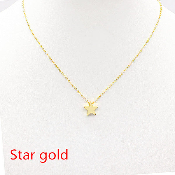 Women Chocker Gold Silver Chain Star Heart Necklace - CheckaBaby