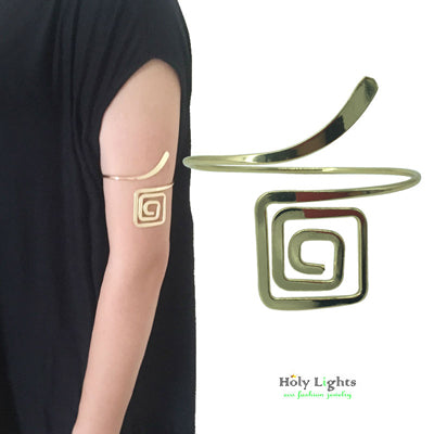 new carter love bracelet & bangles punk upper arm bracelet cuff Gold-color hiphop spiral beach armlet  women - CheckaBaby