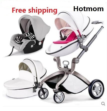 Luxury Baby Stroller High Land-Scape Baby Stroller 3 in 1 Fashion Pram European Carriage - CheckaBaby