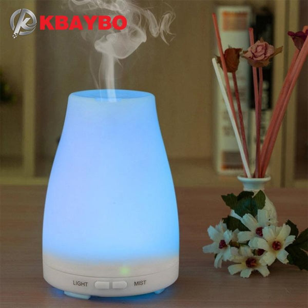 Ultrasonic Humidifier Aromatherapy Oil Diffuser Cool Mist With Color LED Lights essential oil diffuser  Waterless Auto Shut-off - CheckaBaby