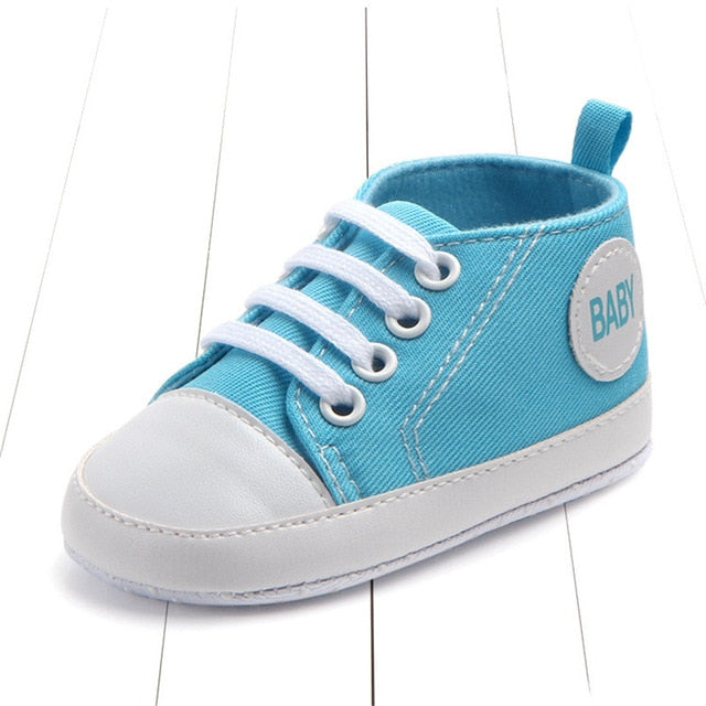959ee9bd0637a ... New Canvas Classic Sports Sneakers Newborn Baby Boys Girls First  Walkers Shoes Infant Toddler Soft Sole ...