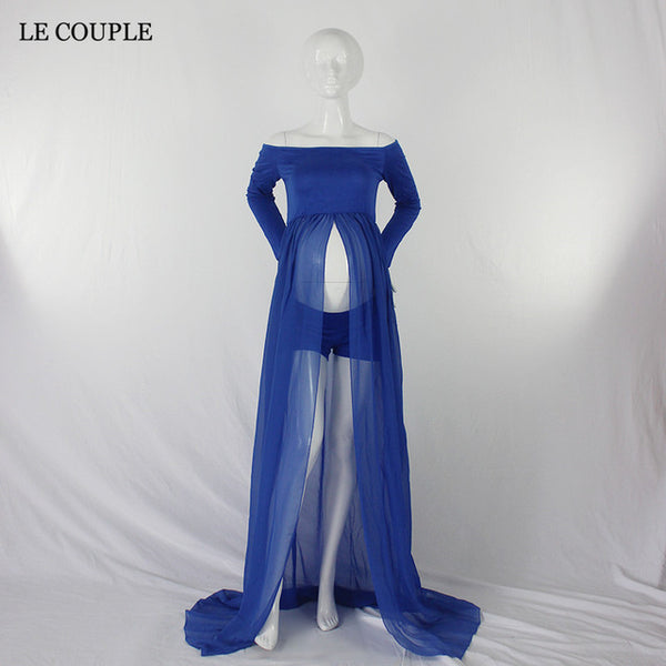 Le Couple Chiffon Maternity Dress - CheckaBaby