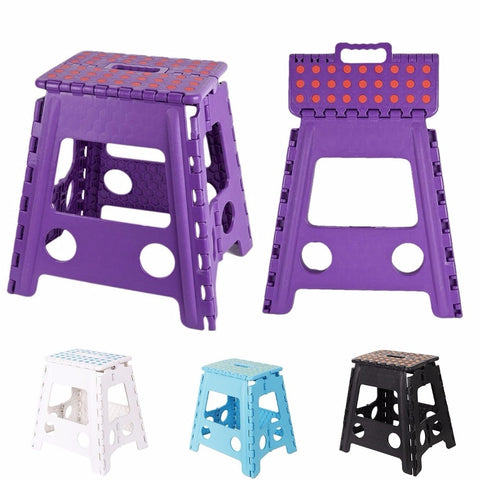 15 Inch Folding Step Stool Super Strong Plastic Stools Portable Step Stool for Kids -3
