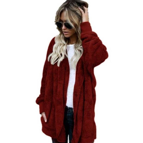 Cardigans Women Long Sleeve Oversize Winter Casual Loose Coverup Tops Autumn Coat Cardigan Female Sweaters Plus Size 4XL - CheckaBaby
