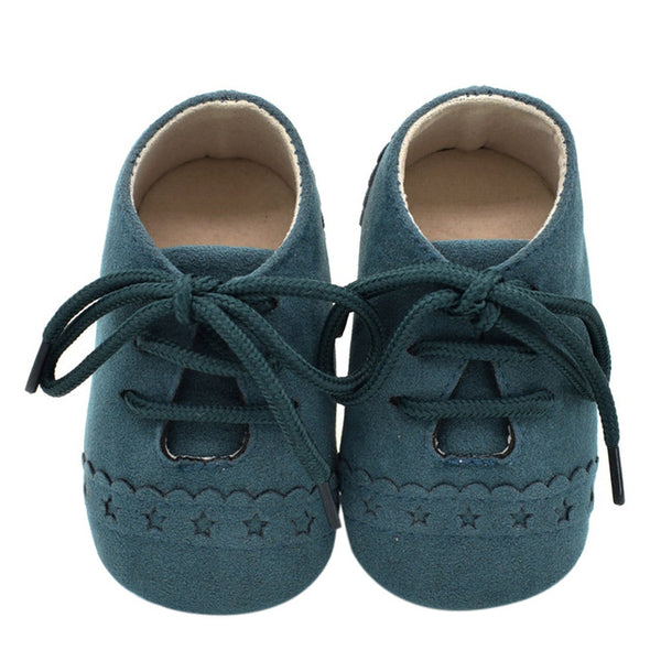 Newborn Baby Shoes Girl Boy Soft Nubuck Leather Prewalker Anti-slip Shoes Canvas Sports Sneakers Moccasins Footwear Shoes - CheckaBaby