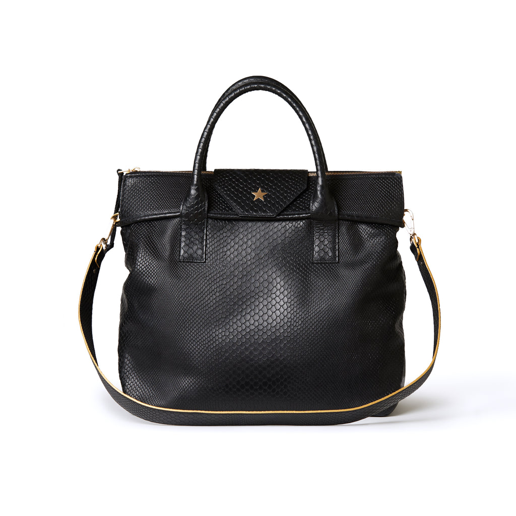 Alessia Large Tote Embossed Black BOA