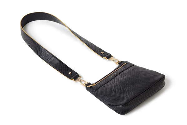 Crossbody Embossed Black BOA